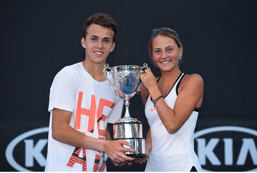 Костюк и Пирош - победители юниорского AUSOpen-2017