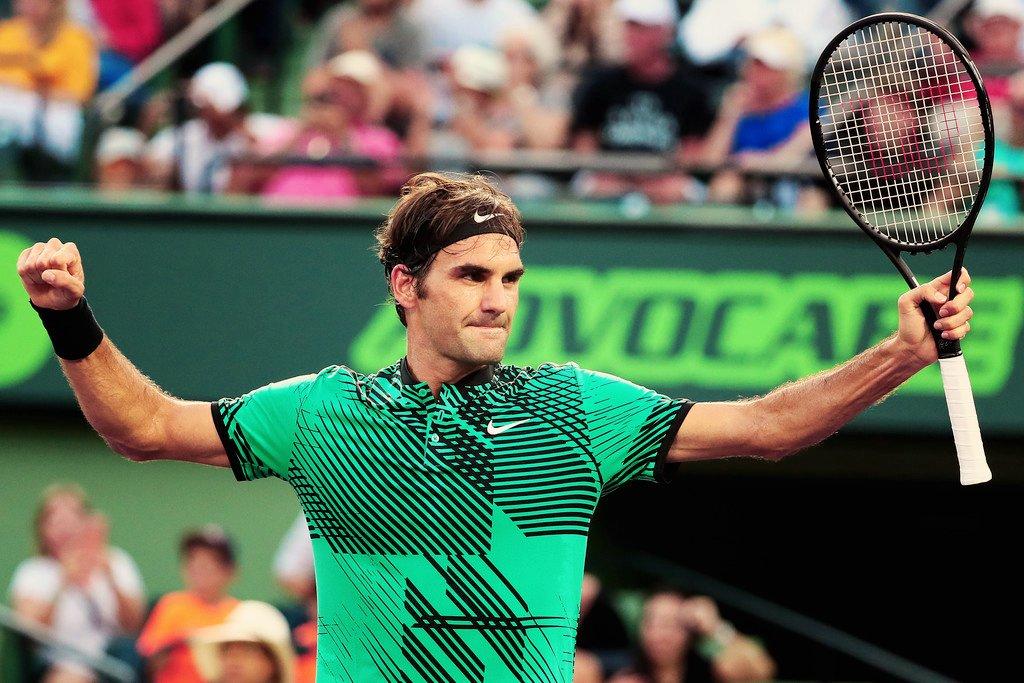Miami Open. Федерер выходит в полуфинал, отыграв 2 матчбола