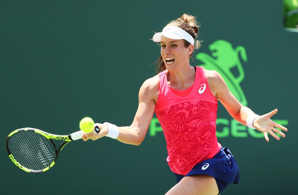 Конта выигрывает титул на турнире WTA в Майами (видео)