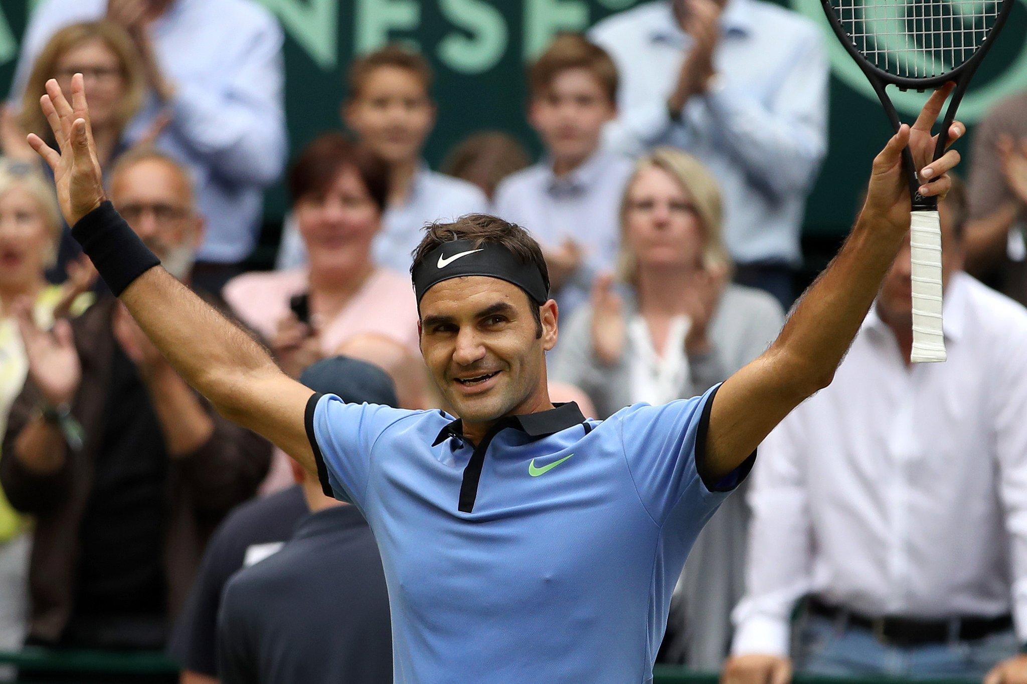 Федерер в 9-й раз выиграл турнир в Халле