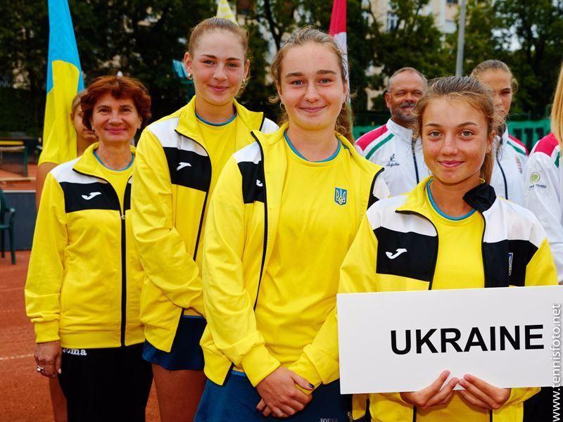 Сборная Украины среди девушек до 16 лет  квалифицировалась на юношеский Кубок Федерации