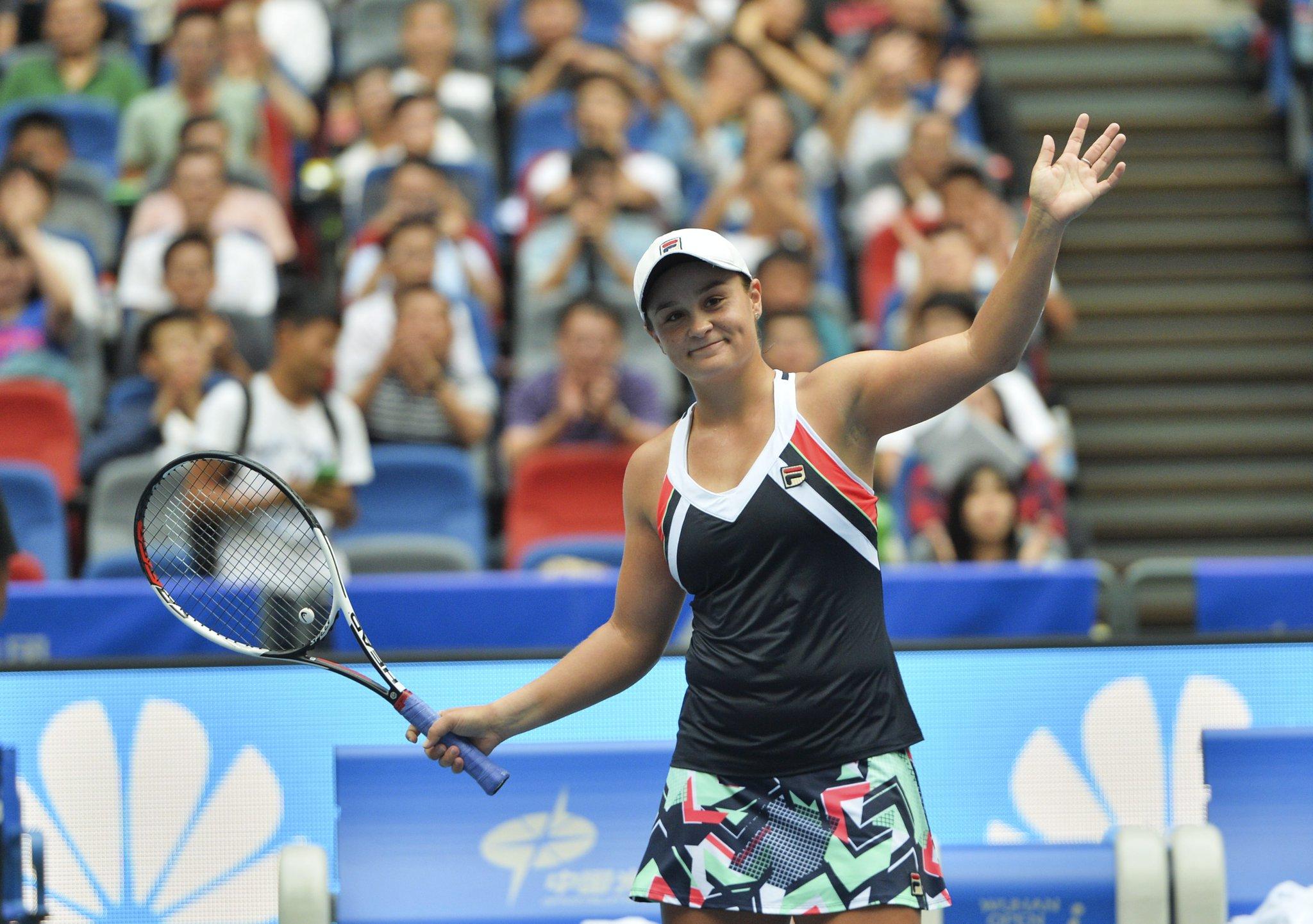 В финале турнира WTA Premier в Ухане сыграют Барти и Гарсия