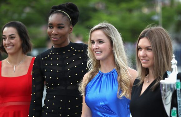Элина Свитолина на церемонии жеребьевки Итогового чемпионата WTA