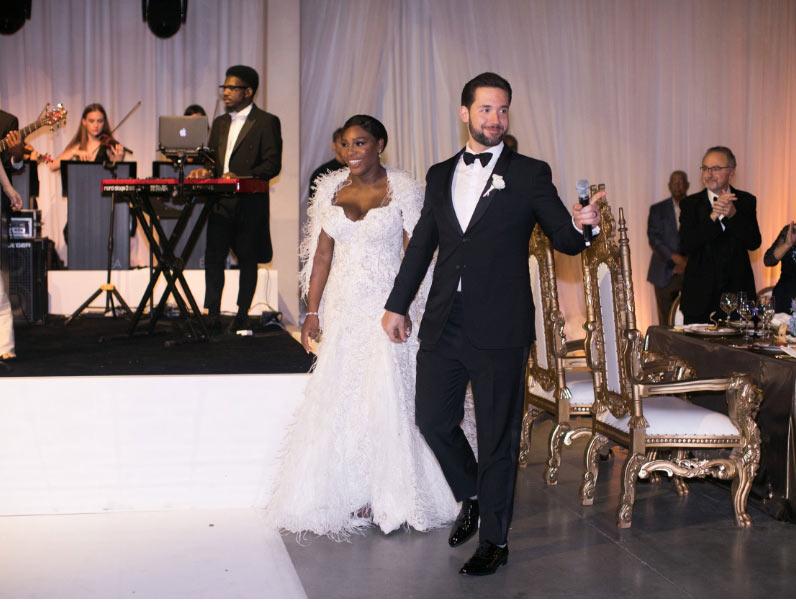 Свадьба Серены Вильямс и Алексиса Оганяна