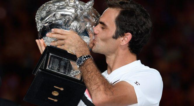 Федерер не смог сдержать слез на церемонии награждения