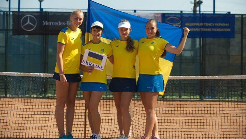 Сборная Украины среди девушек о 16 лет завоевывает путевку на юношеский Кубок Федерации