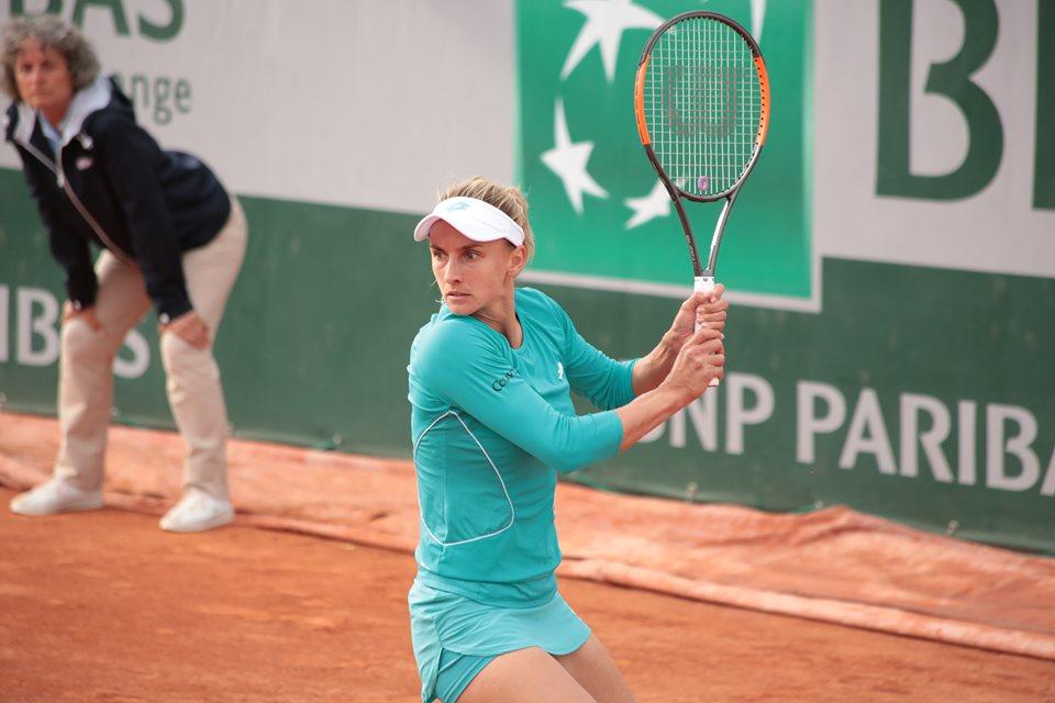 Фото: Леся Цуренко в матче против Александры Крунич