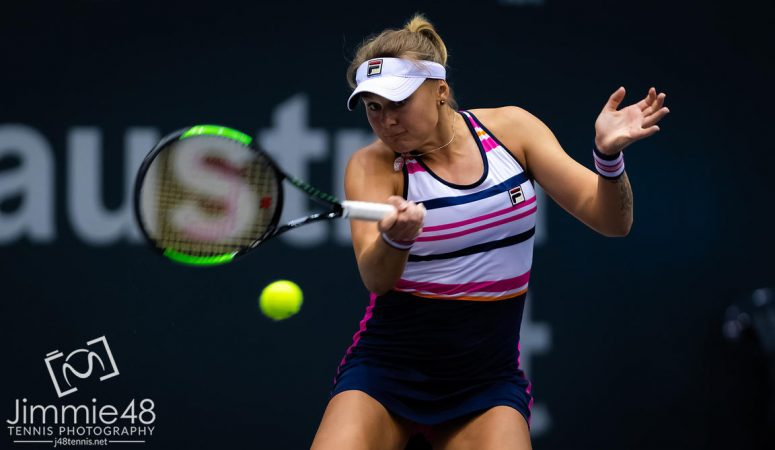 Нью-Йорк. Катерина Козлова проигрывает первый матч после карантина
