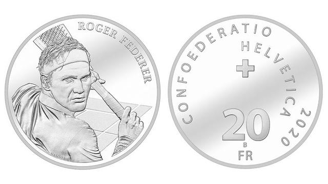 33 тысячи монет с  изображением Федерера раскупили за три дня