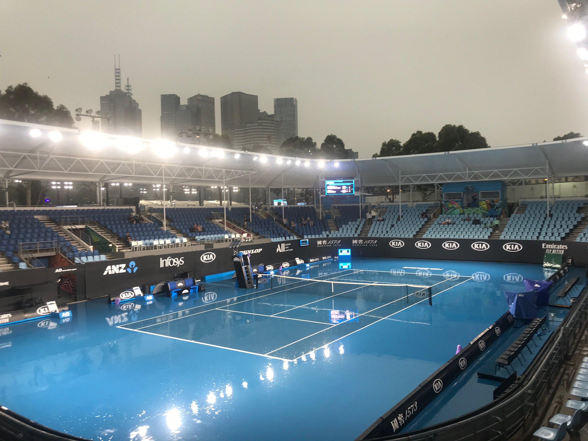 AUS Open. Экстремальная погода в Мельбурне — матчи квалификации отложены и перенесены