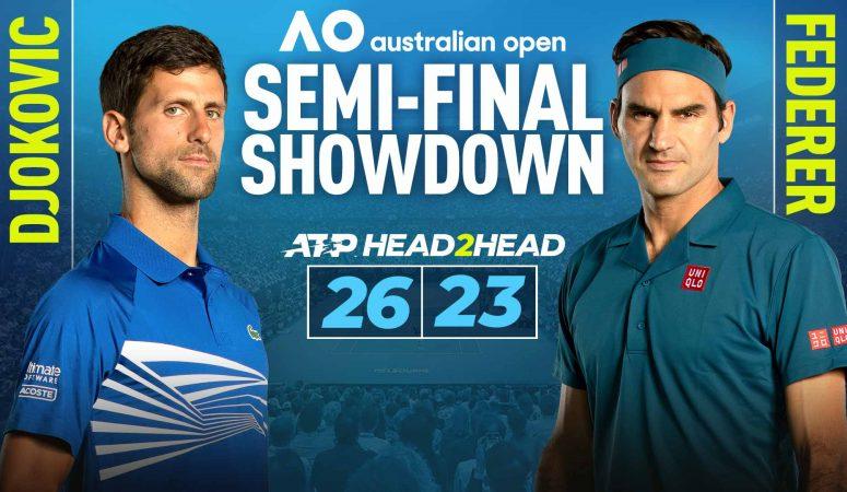 AUS Open. Прямая видеотранляция полуфинала Федерер-Джокович